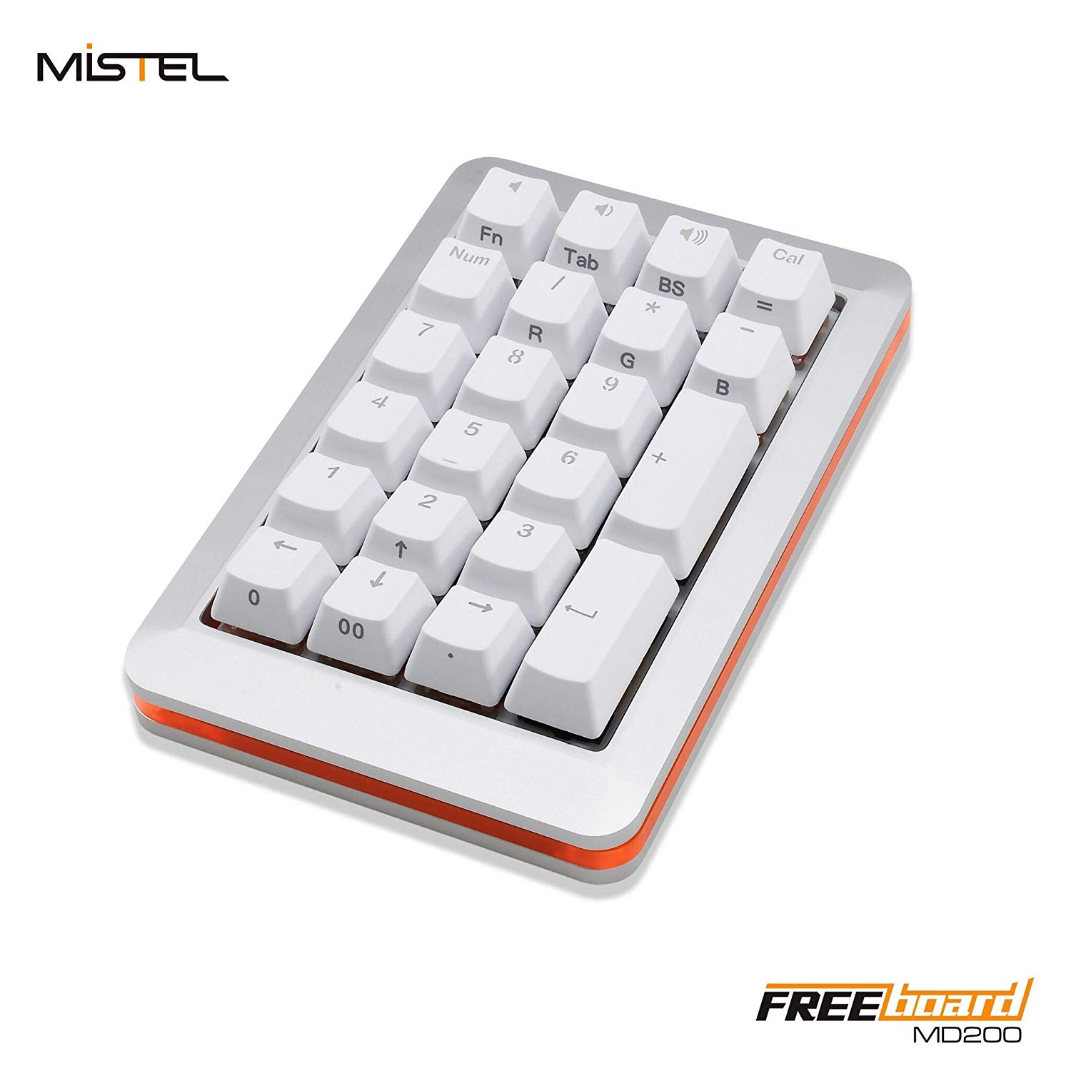 dcb0fbd1e65 Mistel MD200 Freeboard Backlit Doubleshot PBT RGB Aluminum Mechanical  Numpad Cherry MX Switches (Cherry MX