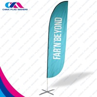 strong advertise feather outdoor and indoor banner flag