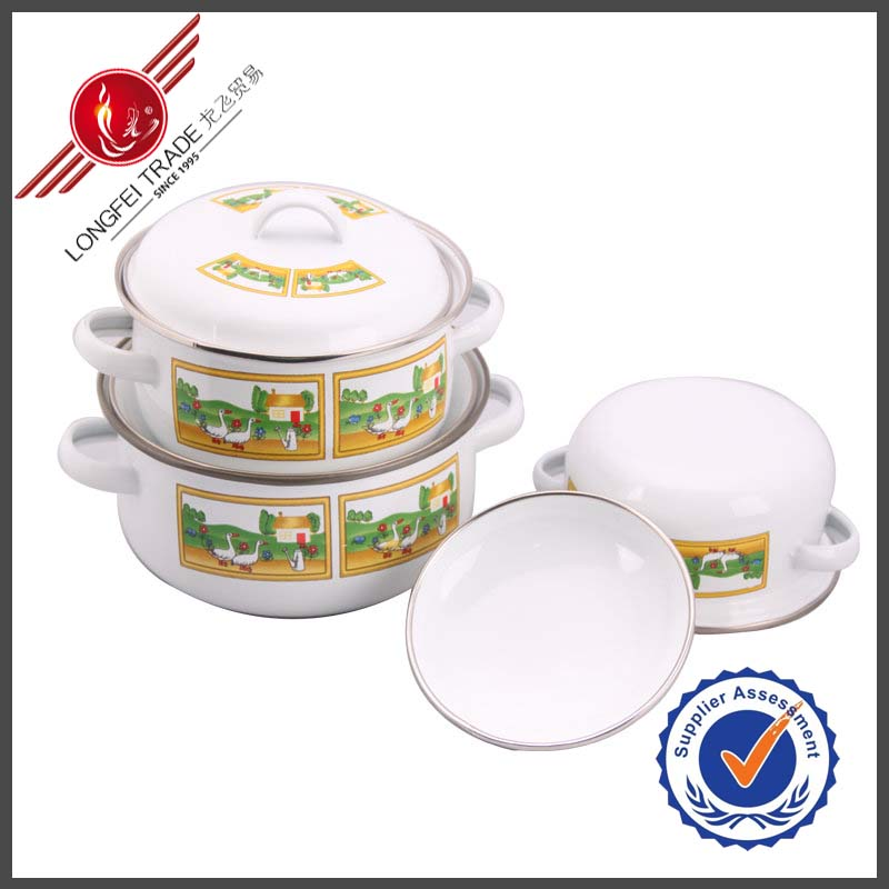 Yiwu Kitchen Ware 674D Enamel Cooking Pot Cooking Accessory