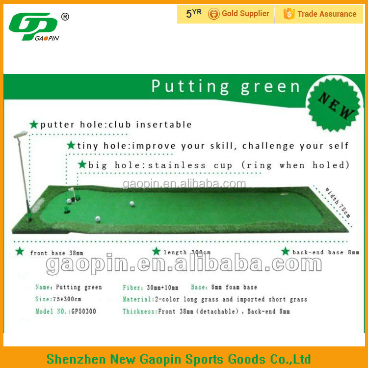 Portable indoor golf putting mat / office golf putting green