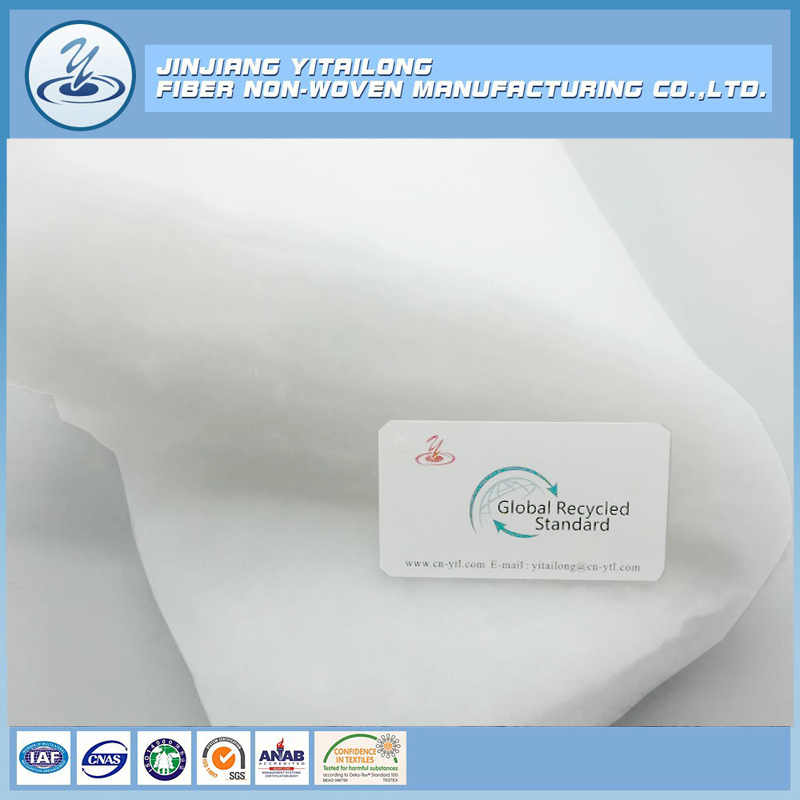 Global Recycled Standard High Loft 100 Polyester Padding Material for Clothing,Home Textile