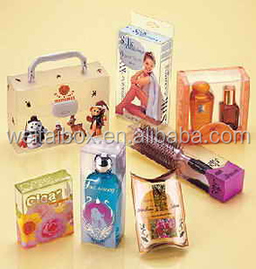 Clear Plastic Packing Cosmetic Box PVC PET PP folding boxes Offset Printing