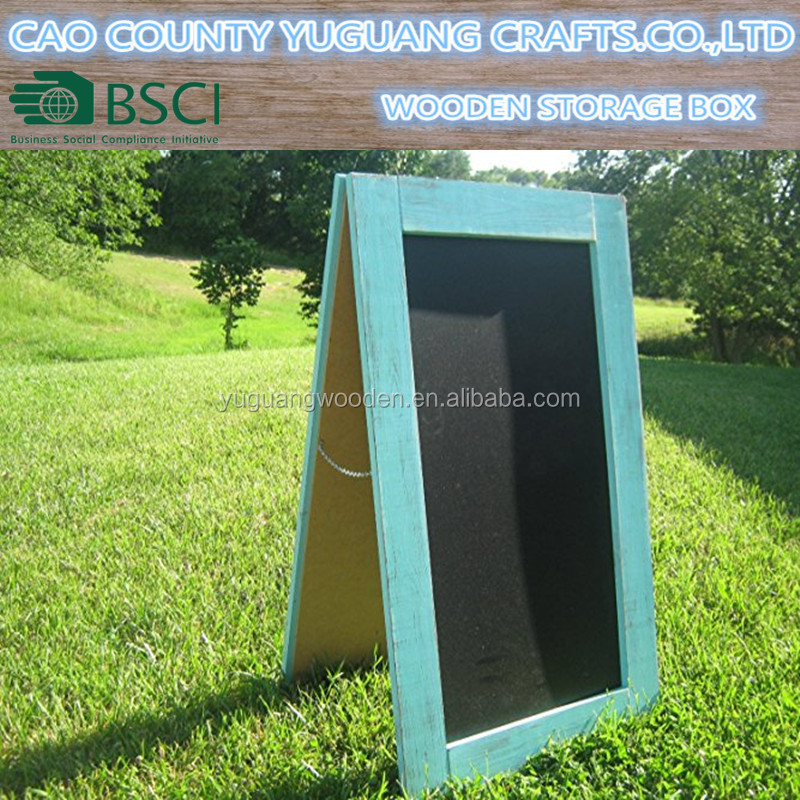 Double sided wedding restaurant sign easel chalkboard Rustic