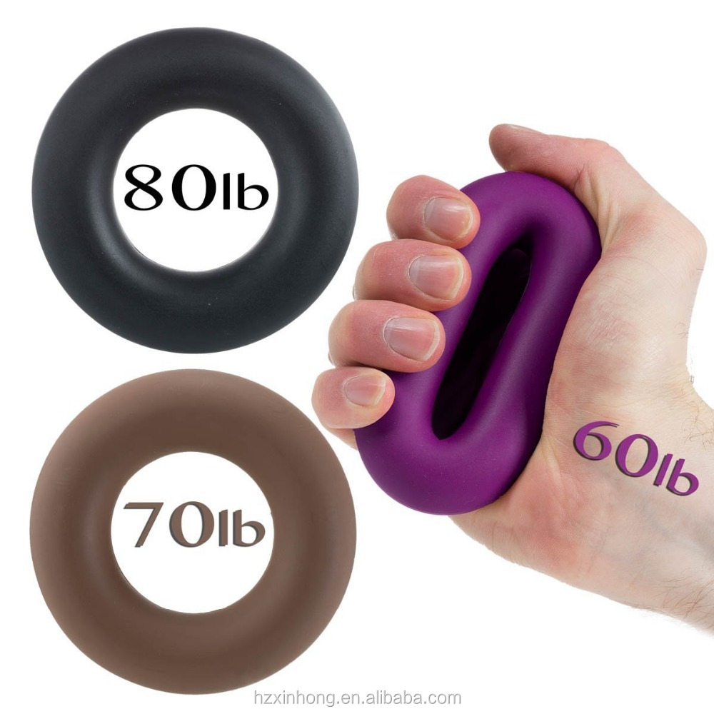 2017 hot sale Silicone gel massage ring hand grip strength