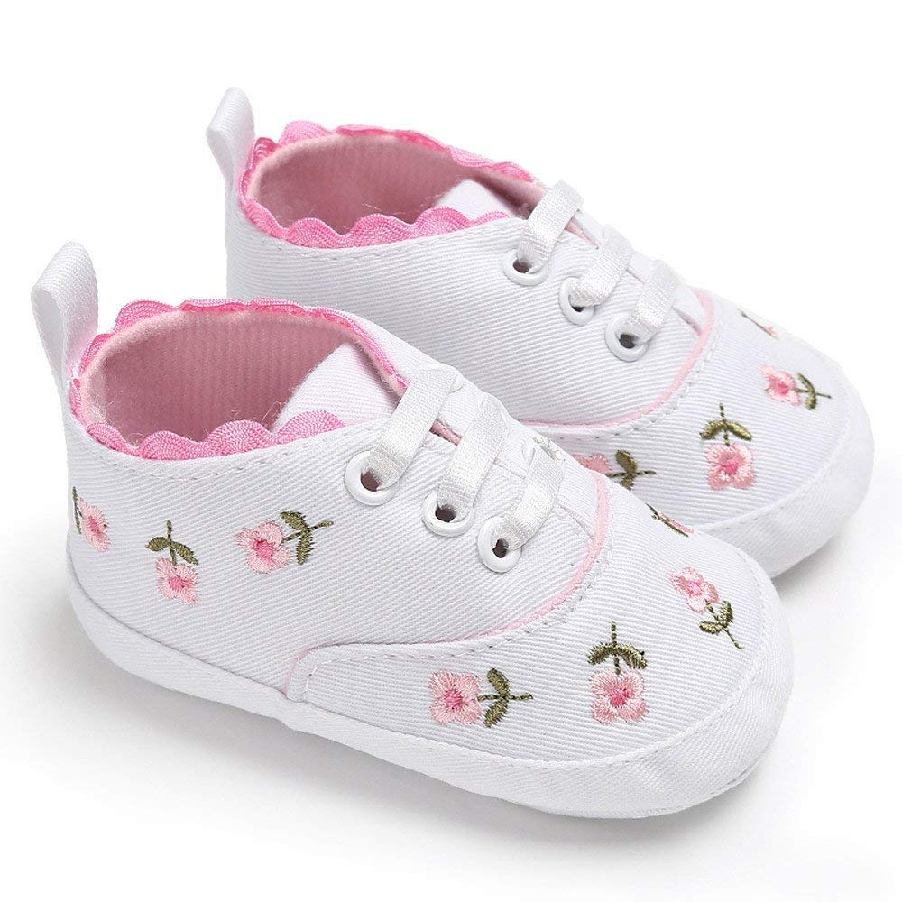 88675e6cdd62 Get Quotations · Jshuang Anti-Slip Newborn Infant Baby Girls Floral Crib  Shoes Soft Sole Anti-Slip