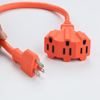 American type outdoor US 3-Outlets Power Bar