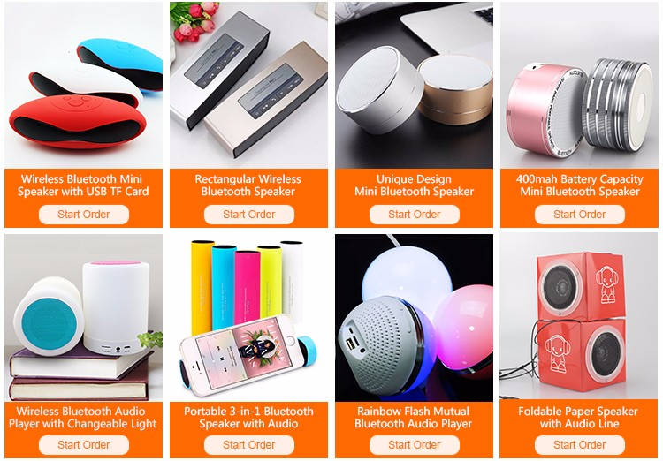 Portable Led Flashing Light Bluetooth Speaker With Smart Touch ...