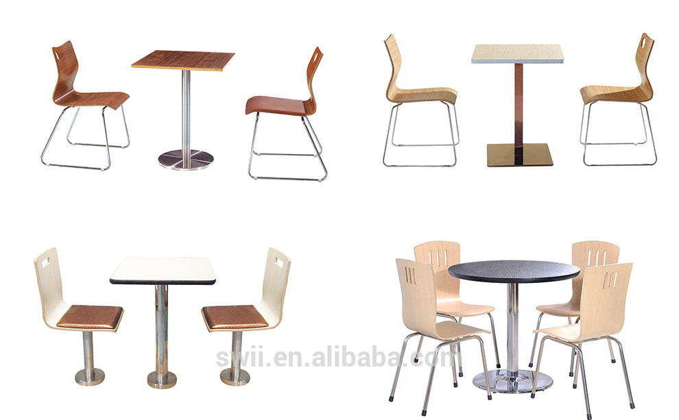 Fast Food Table Chair Set Commercial Cafe Furniture Used Table And Chair  For Restaurant