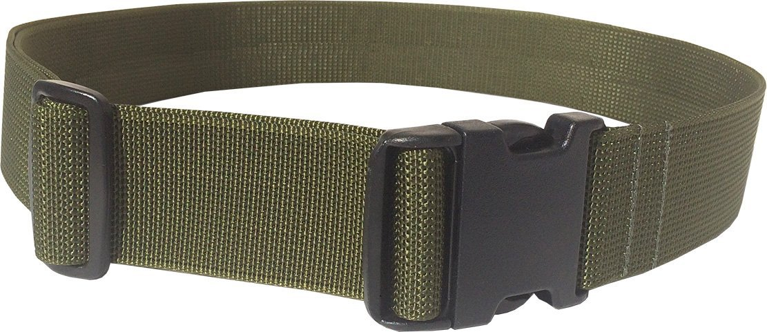 "Fire Force 2"" Lrg Web Belt with Military Side Release Buckle Heavy Weight Scuba Nylon Webbing Made in USA"