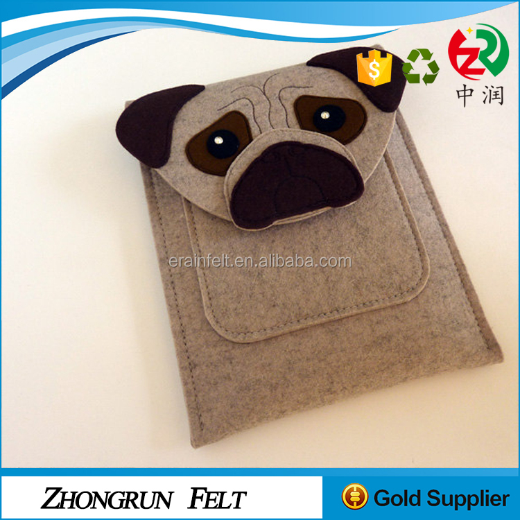Alibaba Supplier Free Sample Young People Tablet PC Bag Reusable Felt Kids Shoulder Bag With Long Strap