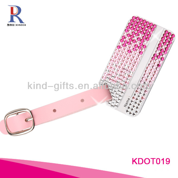 Bling Clear Crystal Aluminum Luggage Tags