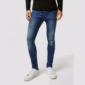 Fashion Jeans Pant Casual Slim Straight Pants Long Trousers Blue Men Denim Jean