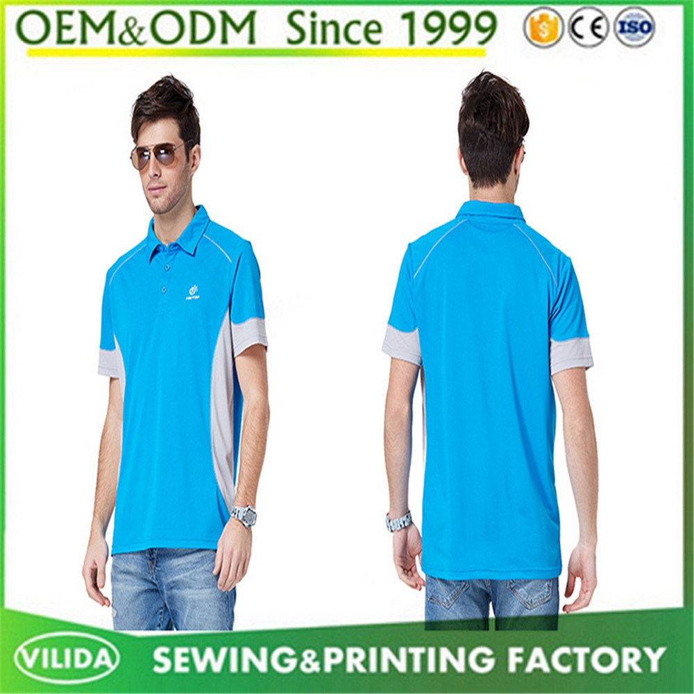 Wholesale cusomt made dry fit sport polo shirts manufacturers 100 polyester polo shirts for sports