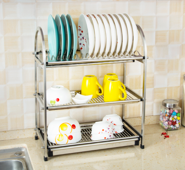 Kitchen Cabinets Plate Rack: Stainless Steel Kitchen Cabinet Plate Rack