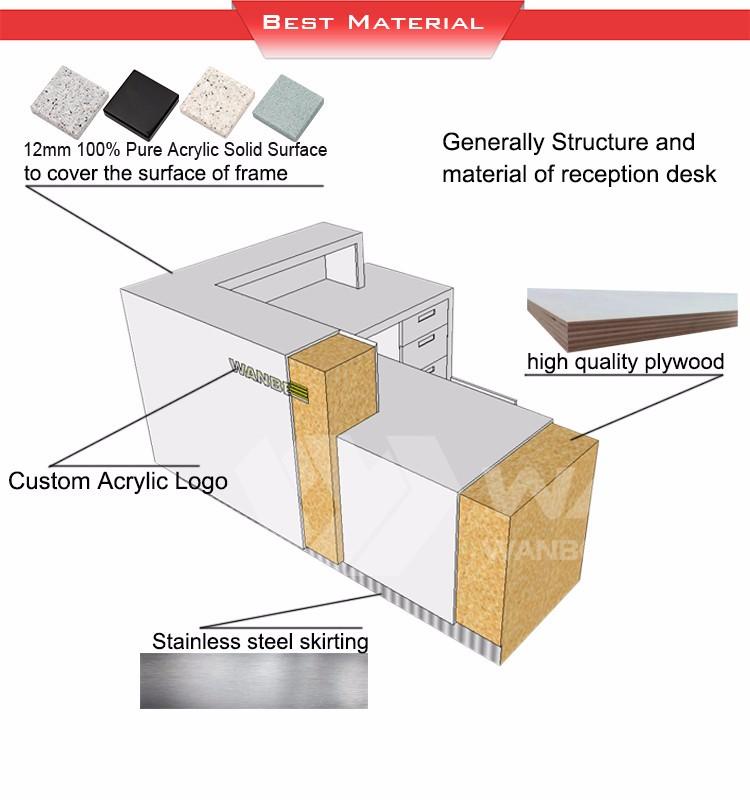 narrow reception desk long narrow reception table price cash counter design