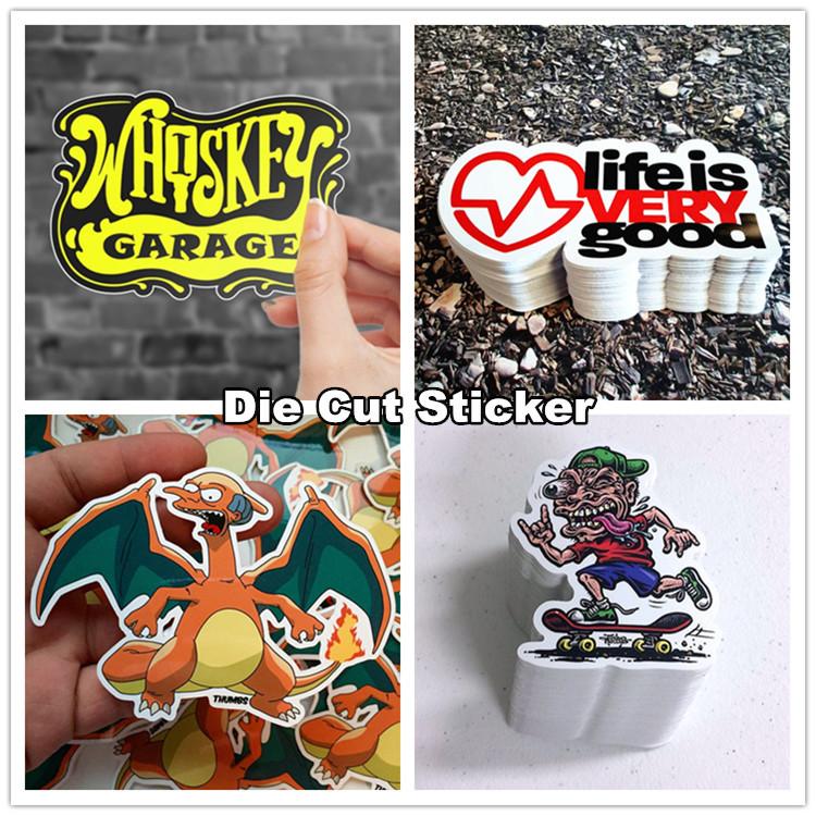 Custom waterproof die cut letter sticker custom vinyl sticker pvc sticker