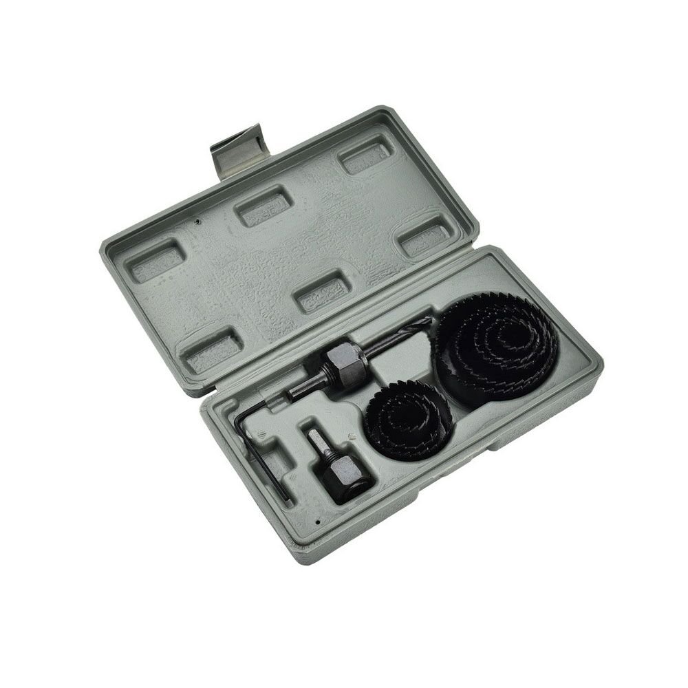 """QWORK 11 Piece Hole Saw Set 3/4"""" - 2 1/2"""" (19mm - 64mm) for Sheetrock, Drywall, Wood, Plastic and Other Soft Material"""