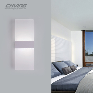 Modern simple white long strip wall lamp.hot sale LED indoor white wall lamp