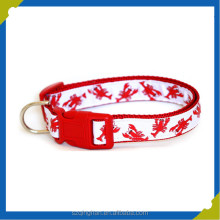 Manufacturer personalized embroidered nylon dog training collar and leash