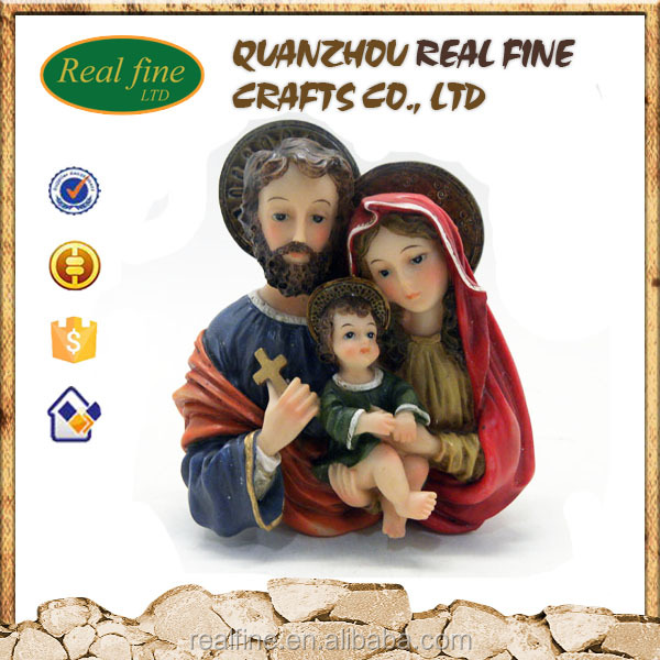 custom religious holy family statue