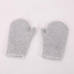 WholeGarment Seamless Winter Soft Knit Infant Children Baby Wool Cashmere Gloves Mittens