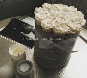 HIgh quality hot customised gift boxes for candles, round candles box, round roses box