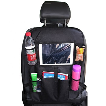 Car back seat organizer and car seat protector with touch screen tablet holder / Back seat car organizer