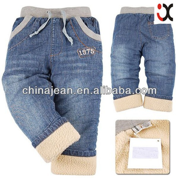 2015 new boys jeans hot sale fleece lined jeans new style boys pants jeans JXK310490