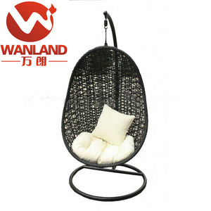 Outdoor leisure rattan swing hanging egg / ball chair