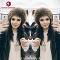 Sinofashion 2016 Europe New short plush snow cap flat bottomed cap Street Hat Faux fur hats