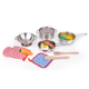 Food grade kids cooking set 304 stainless steel tableware set kitchen toy cooking kitchen ware