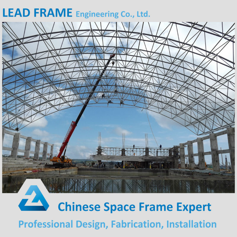 customized ball-joint space frame low cost swimming pools