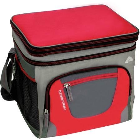 Ozark Trail 24-Can, 3-inch Expandable Top Cooler with Removable Hardliner, Red- Great for Camping, Outdoor Adventures