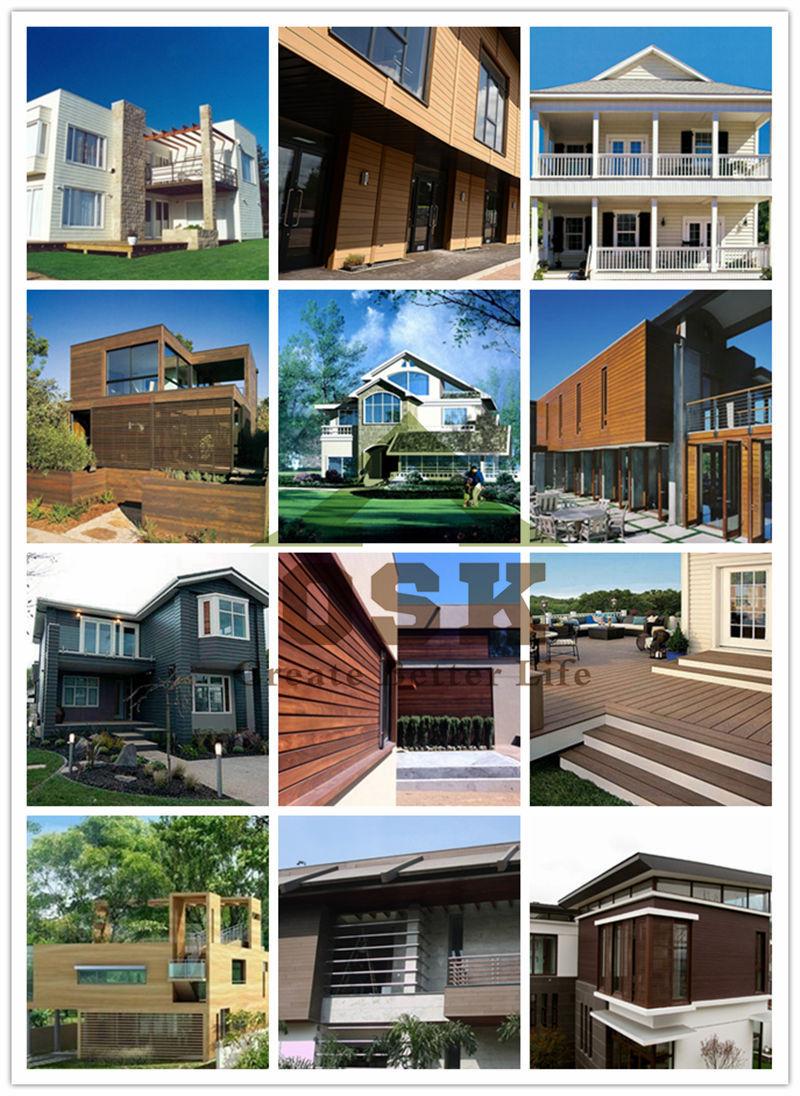 Günstigen Preis Umweltfreundliche Außen Dekorative Holz kunststoff