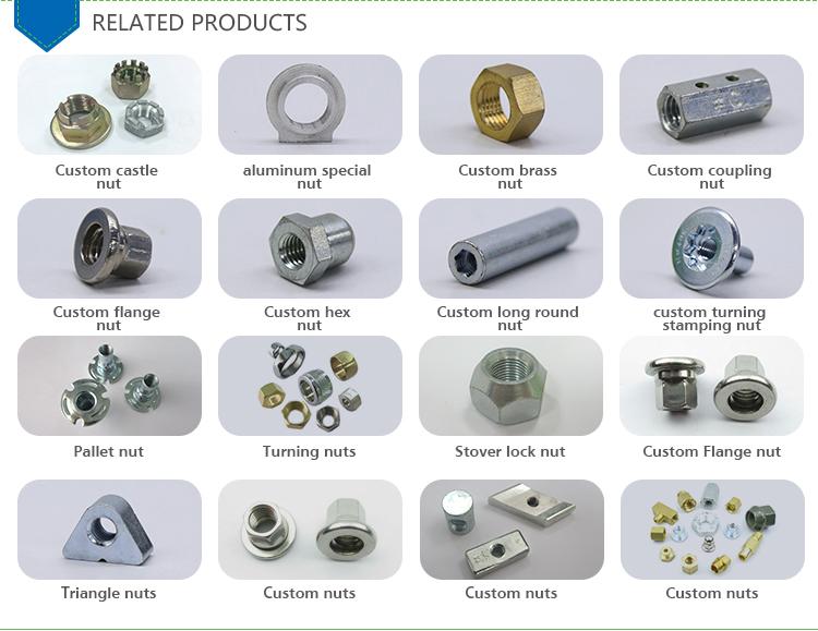 Materiale personalizzato e modello ASTM A194 pollici pesante dadi esagonali