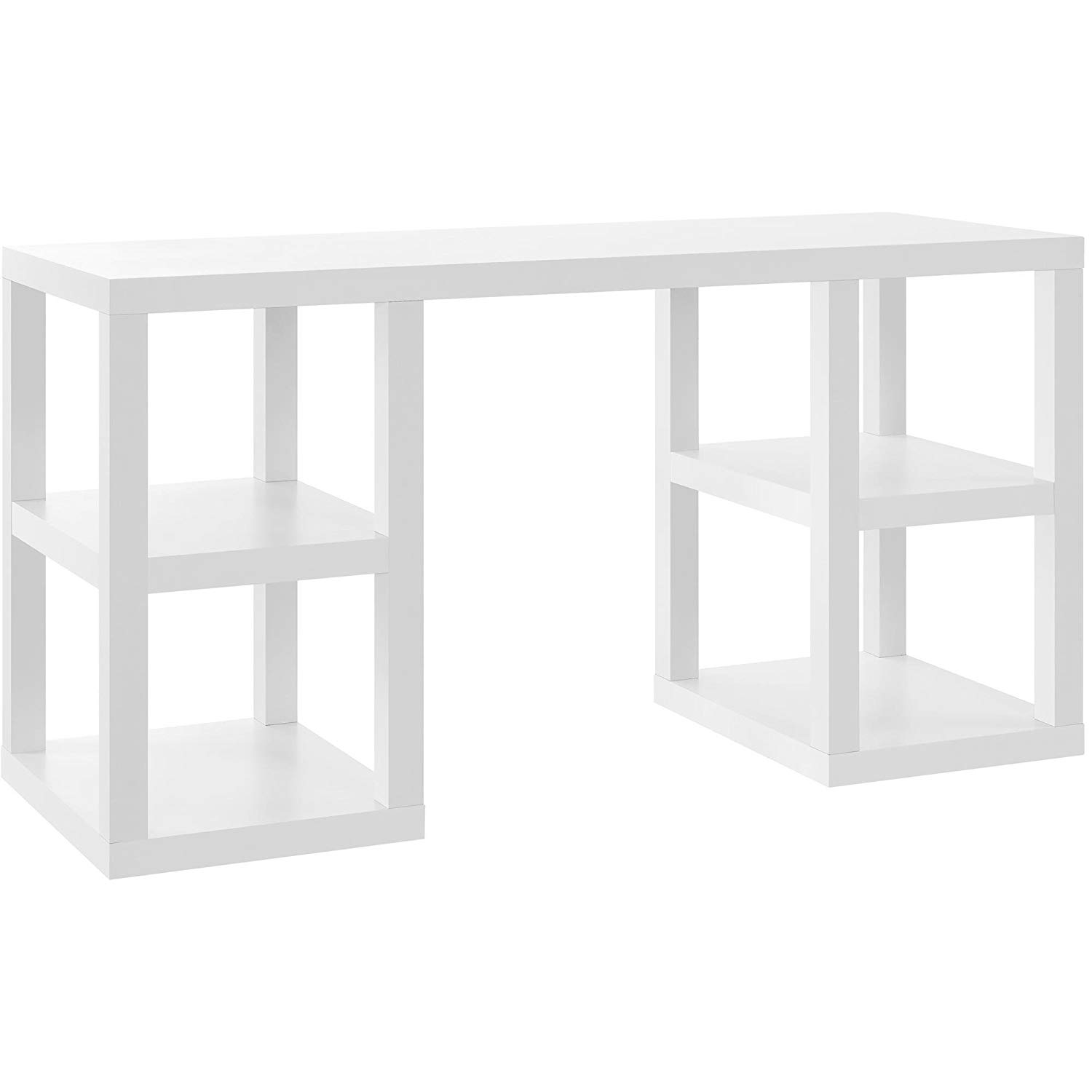 MyEasyShopping Modern & Contemporary Super Classic White Laminate Deluxe Desk Desk Deluxe New Reference Library Set