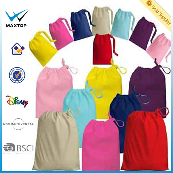 Newest 100% Cotton Drawstring Bags - Brand New - REACH/EN71/CP65 Available in various colours & Sizes