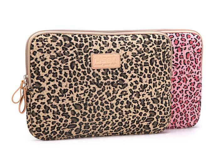 Leopard Style Laptop Sleeve 2015 New Shockproof Bolsas Handheld Women Notebook Bag Elastic Rubber Leopard Style Laptop Sleeve