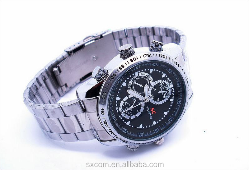 8gb Spy Wrist Watch Hidden Camera Sport Watch Camera Stainless ...