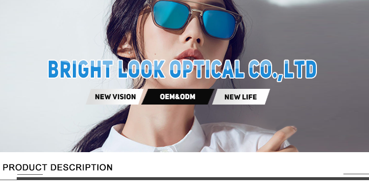 Brightlook OEM lens high quality custom sunglasses with stickers