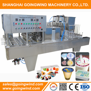 Automatic butter cup filling and sealing machine auto fruit nuts sauce plastic cups packing machinery cheap price for sale