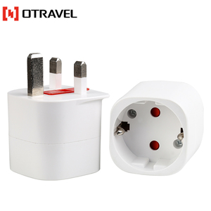 Otravel SL-504 for worldwide travellers visit UK/Korea AC power plug Euro to UK BS8546 travel adapters