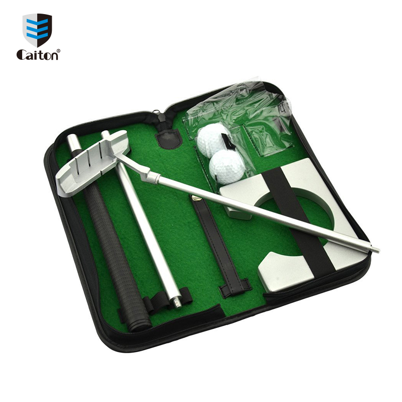Caiton Criativo Executivo Putter Gift Set Mini Putting Conjunto Completo Indoor Putting Green com Eixo Bola Bola Portão G132