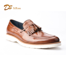 Italy classic tassel casual men causal genuine leather shoes