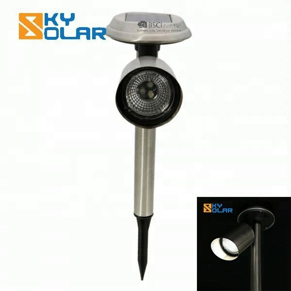 Outdoor Solar Power Stainless Steel LED Spot Light Yard Garden Lawn Path Xmas Lamp for Home,Party,Holiday Decoration