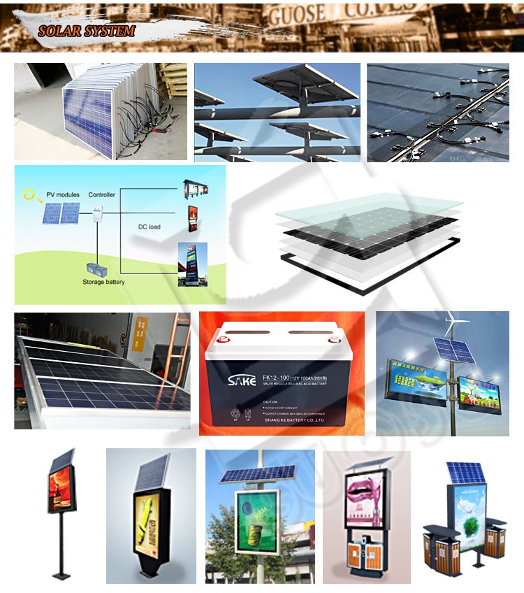 Outdoor Led Street Pole Business Double Sided Ads Aluminium ...