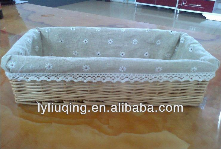 Wicker Storage Basket Wicker Fabric Lining,Bread Baskets Wholesale ...