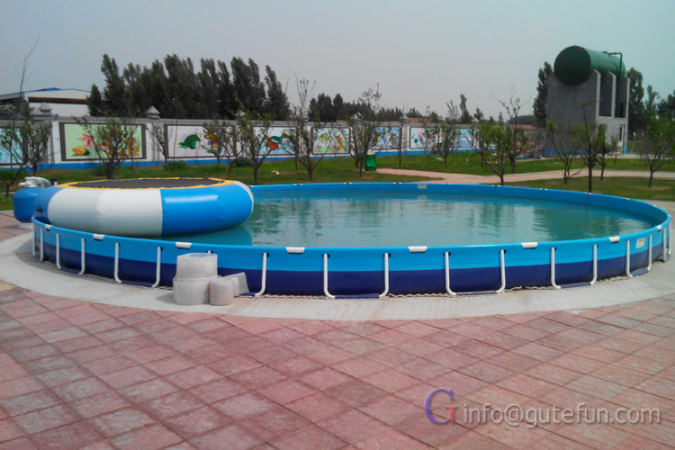 Rubber Swimming Pools : Above ground rectangular outdoor rubber swimming pool