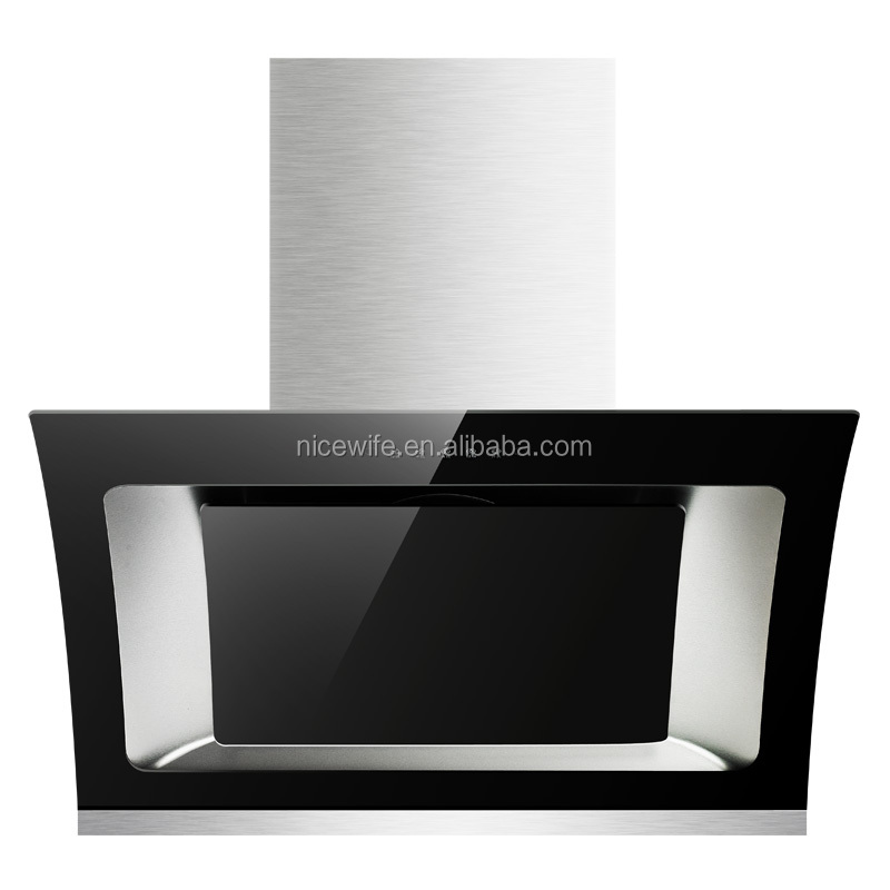 QTT-A837B touch control switch 3 speeds 220V 220W stainless steel range hood auto clean function
