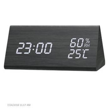 Electronic digital wood led alarm clock